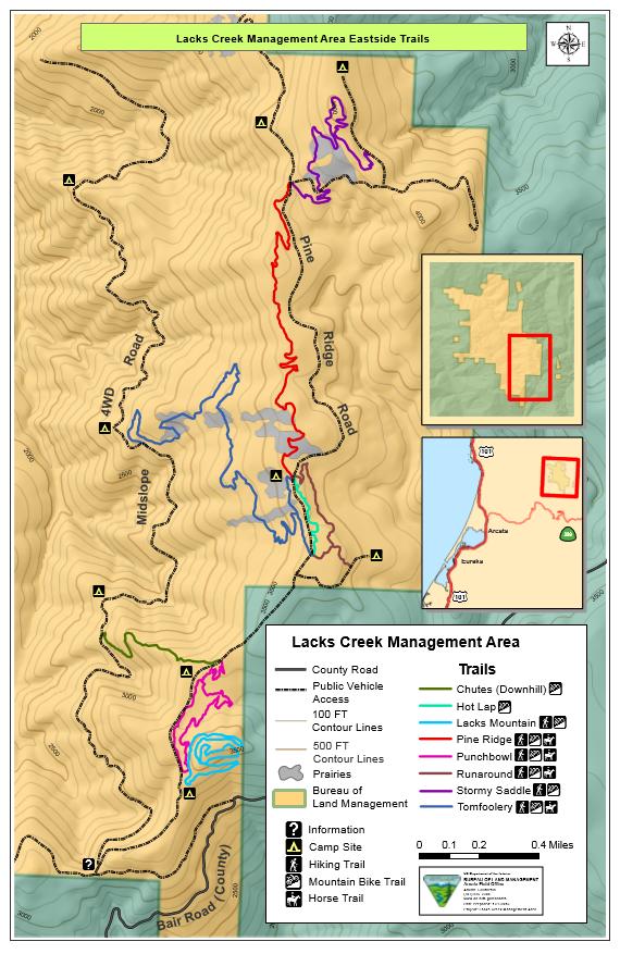 Lacks Creek East Side Trails